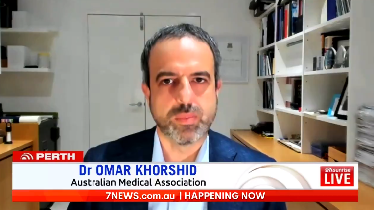 AMA President, Dr Omar Khorshid on Sunrise to discuss the South Australian COVID-19 outbreak